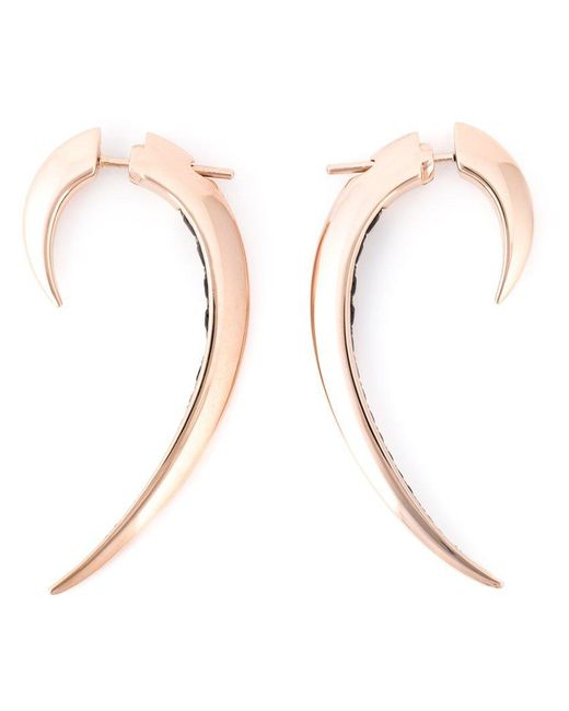 Shaun Leane | Metallic 'signature Tusk' Black Spinel Earrings | Lyst