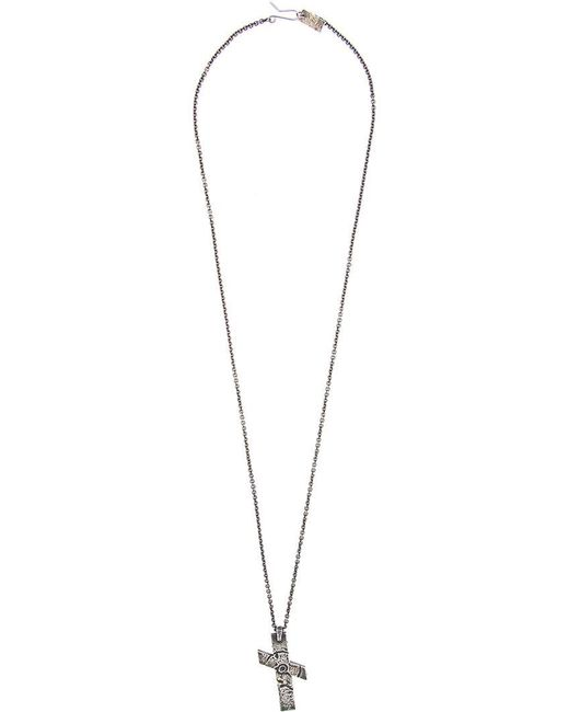 Julius - Metallic Slanted Cross Necklace for Men - Lyst