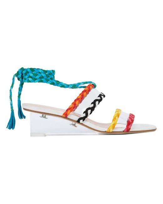 Ritch Erani Nyfc - White Braided Wedge Sandals - Lyst
