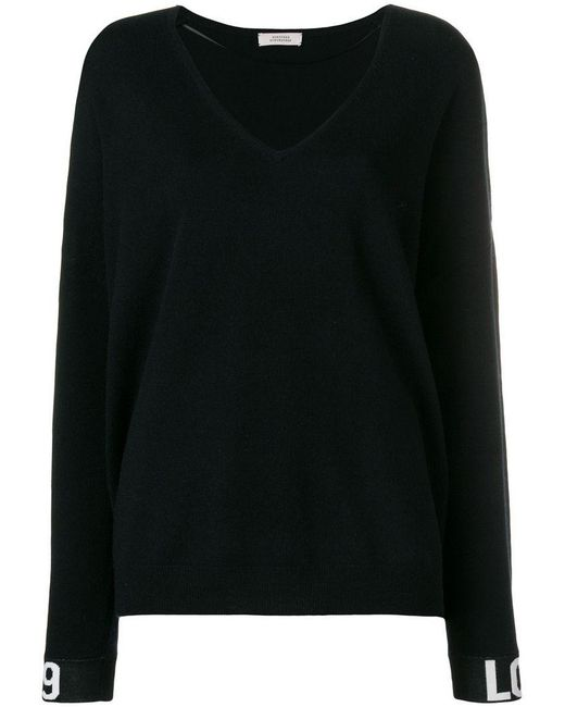 Dorothee Schumacher - Black Contrast-cuff Fitted Sweater - Lyst