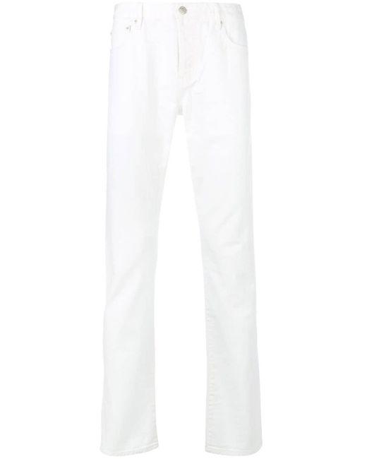 Officine Generale White Slim Fit Jeans for men
