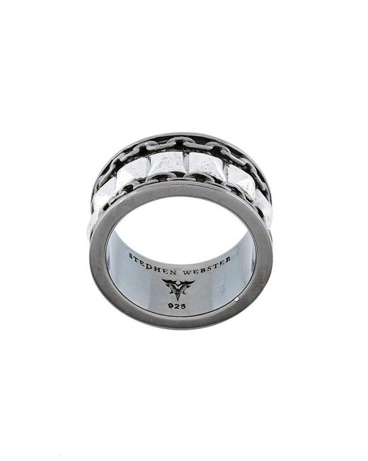Stephen Webster - Metallic Shank Ring for Men - Lyst