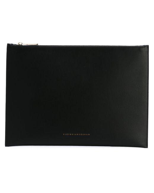 Victoria Beckham - Black Zipped Pouch Clutch Bag - Lyst