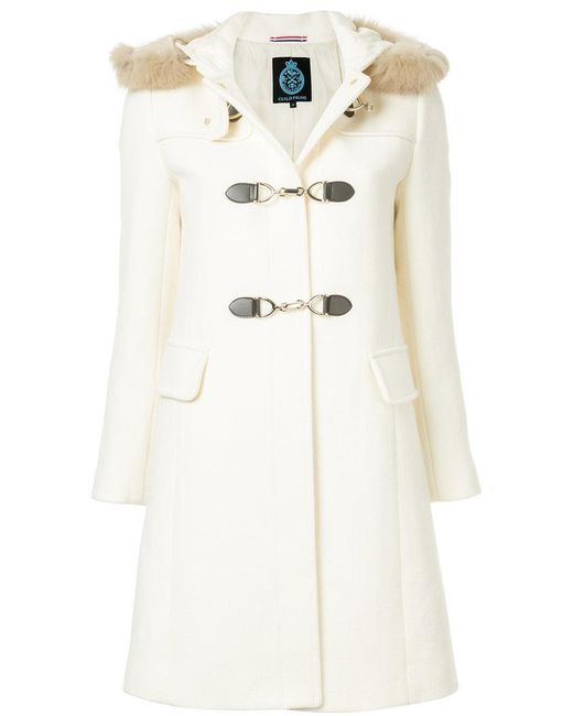 Guild Prime - White Hooded Duffle Coat - Lyst