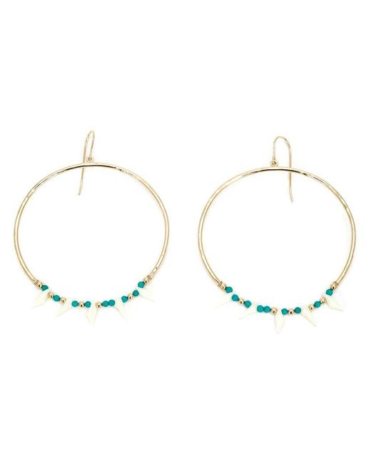 Aurelie Bidermann - Green 'surfing' Resin Bead Hoop Earrings - Lyst