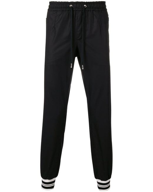Dolce & Gabbana - Black Jogginghose mit engen Bündchen for Men - Lyst