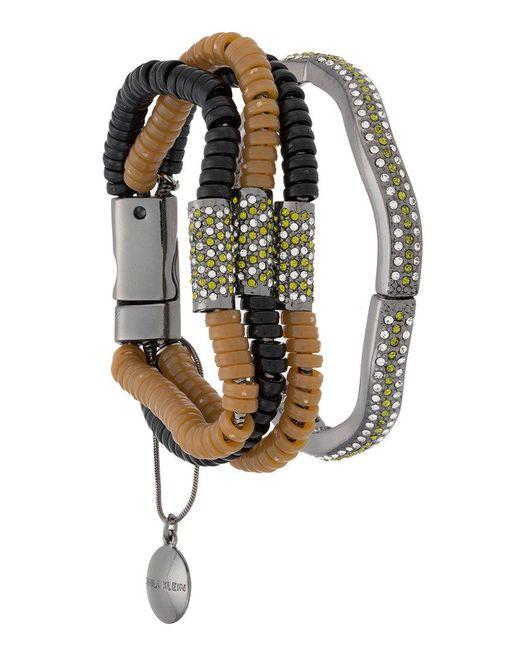Camila Klein resin details bracelet - Metallic 0Ax3LWXghz