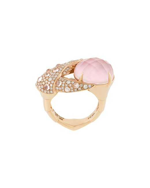 Stephen Webster - Metallic 18kt Rose Gold, Opal And Diamond Crab Pincer Crystal Haze Ring - Lyst
