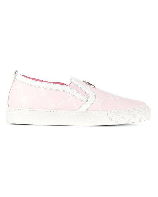 Blumarine - Pink Slip-on Sneakers - Lyst