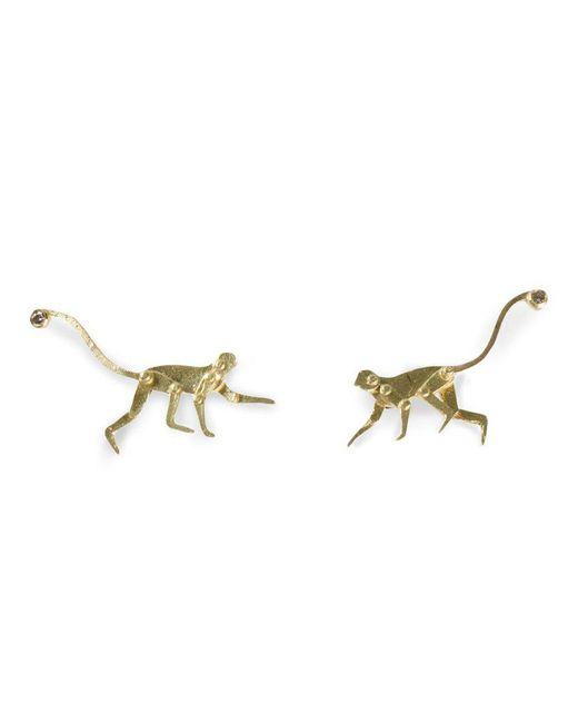 Marc Alary - Metallic Micro Monkey Stud Earrings - Lyst