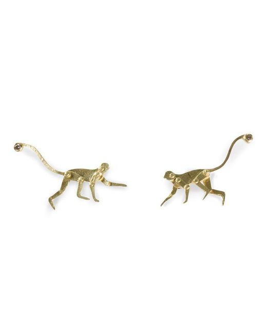 Marc Alary | Yellow Micro Monkey Stud Earrings | Lyst