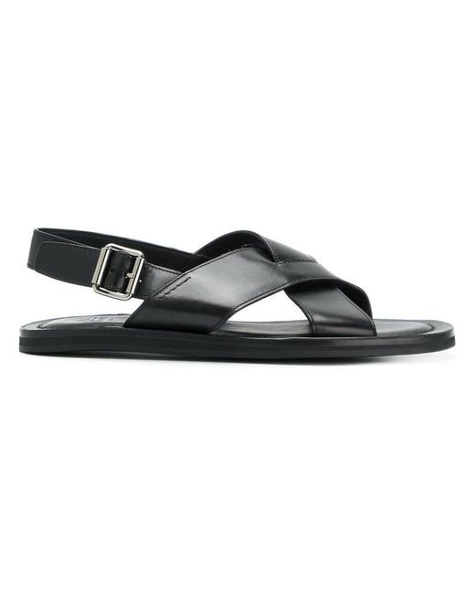 Church's - Black Sandalen mit überkreuzten Riemen for Men - Lyst