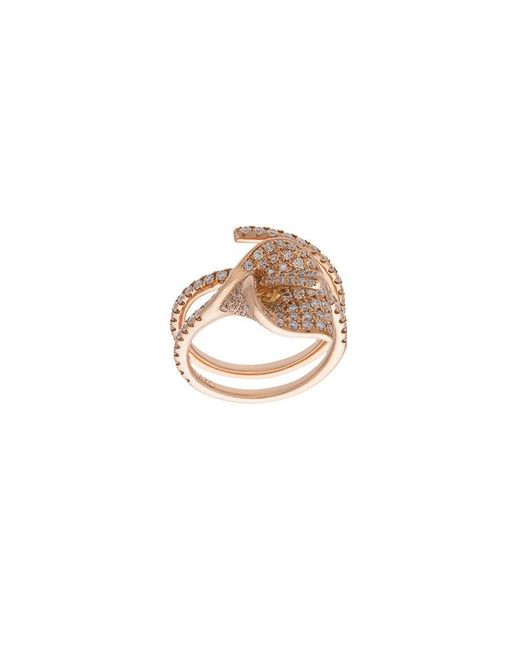 Anita Ko - Metallic Flower Ring - Lyst