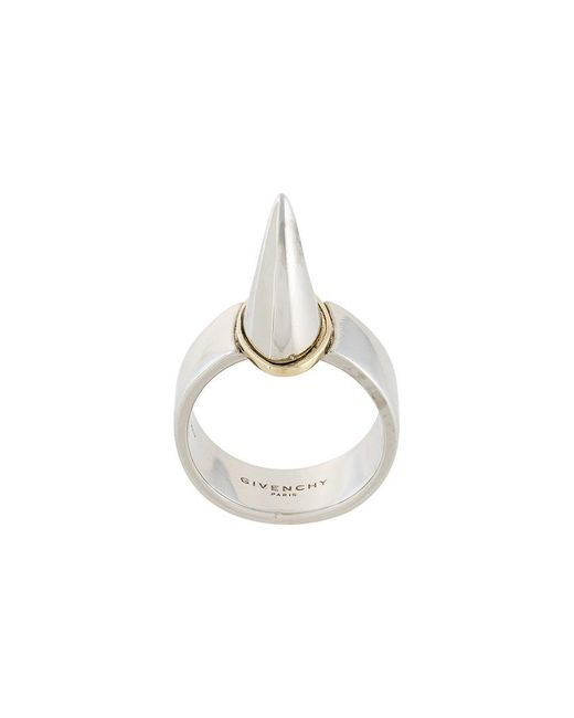 Givenchy - Metallic Shark Tooth Ring - Lyst