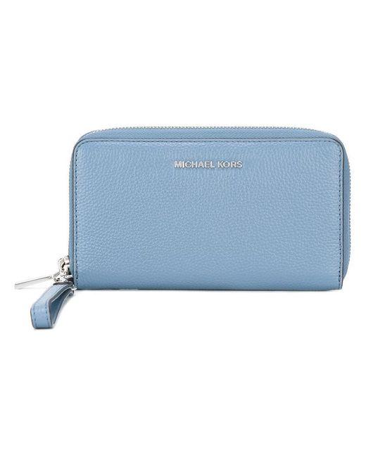 MICHAEL Michael Kors   Blue Jet Set Travel Wallet   Lyst