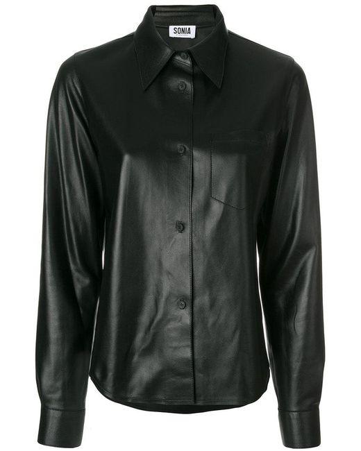 Sonia by Sonia Rykiel | Black Leather Shirt | Lyst