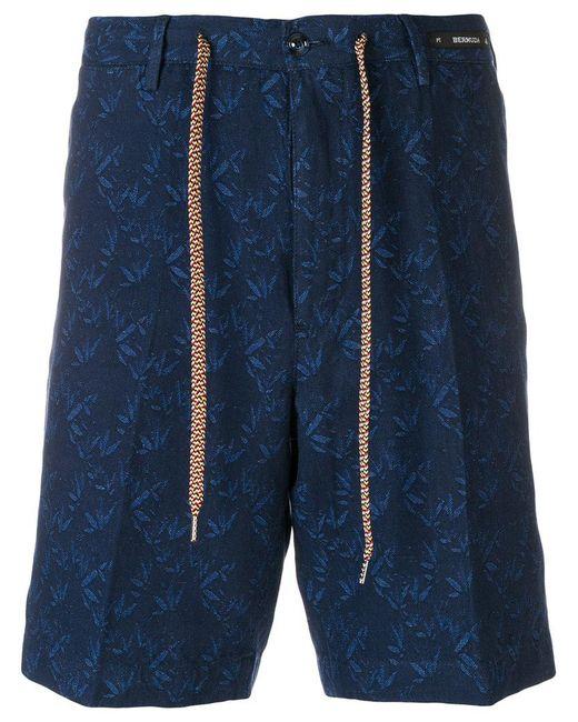 PT01 - Blue Tailored Patterned Shorts for Men - Lyst