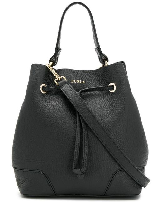 Furla - Black Stacy Bucket Bag - Lyst