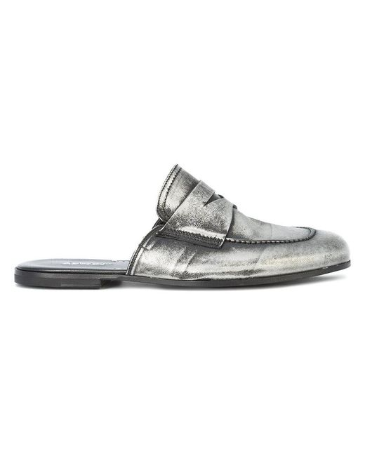 Rocco P - Gray Loafer Mules - Lyst