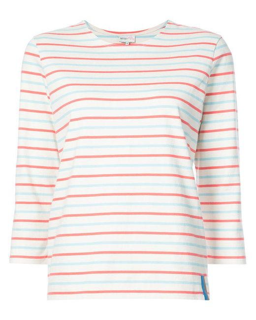 Kule - White Capitol Xx Collection Striped T-shirt - Lyst