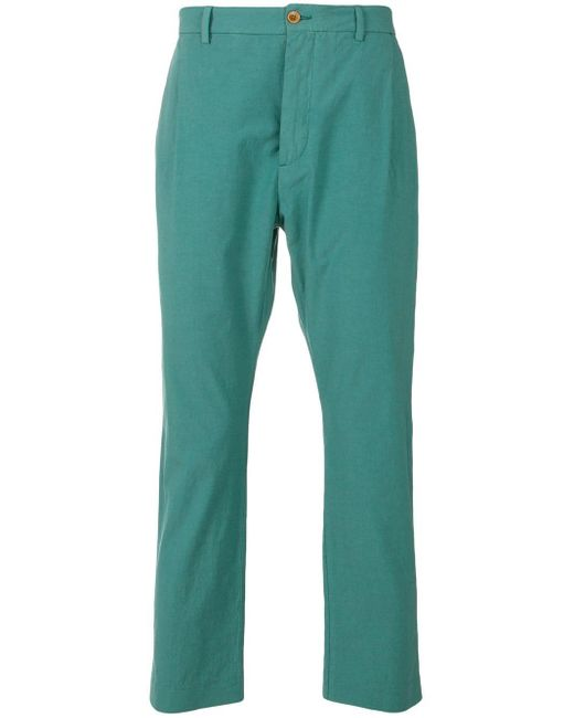 Pence - Green Tailored Fitted Trousers for Men - Lyst