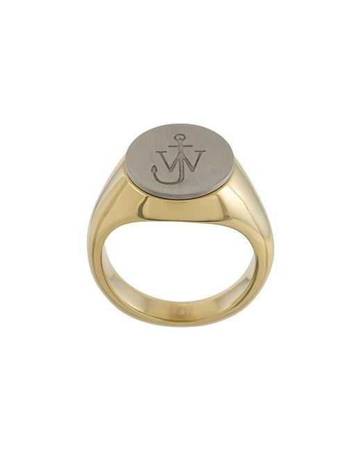 J.W. Anderson - Metallic Logo Engraved Ring - Lyst