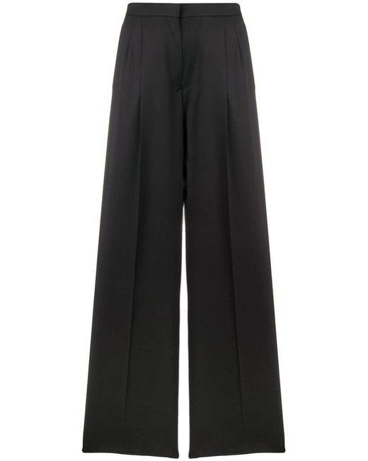 Rochas - Black High-waist Flared Trousers - Lyst