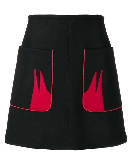 N°21 - Black Contrast Pocket Skirt - Lyst