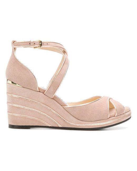 Jimmy Choo - Pink Alanah 80 Sandals - Lyst