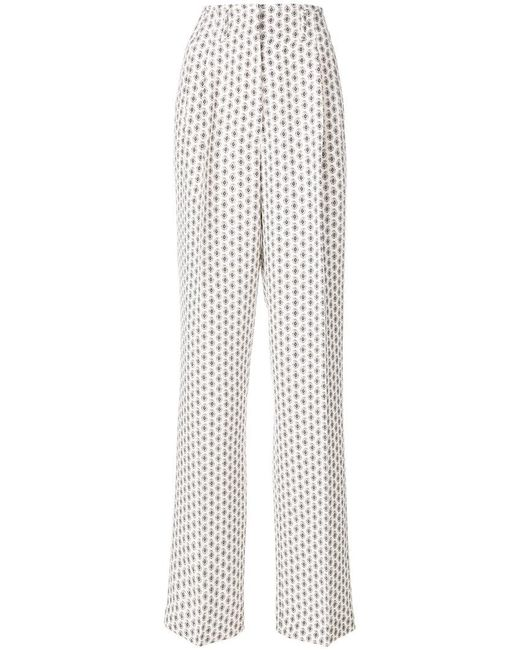 Etro - Multicolor Paisley Print High-waisted Trousers - Lyst