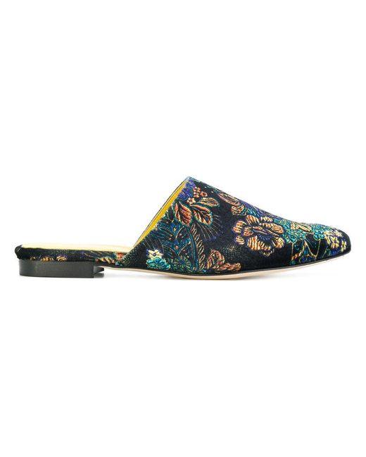 Danielapi | Blue Floral Patterned Mules | Lyst