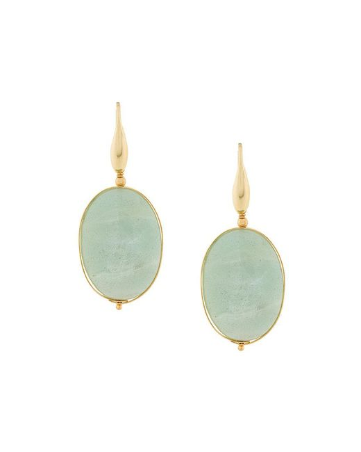Isabel Marant - Green Stone Drop Earrings - Lyst