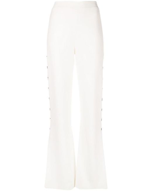 Embellished Pants Waisted Women's White High 0w8OPknX