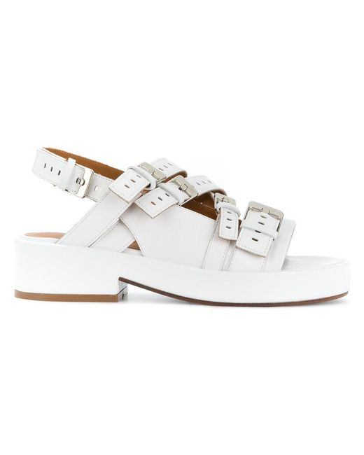 Clergerie - White Buckled Open-toe Sandals - Lyst