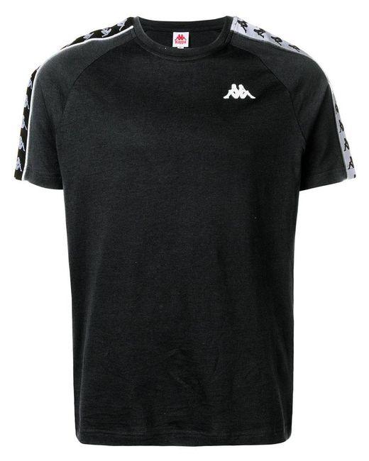 af517668f9 Kappa - Black Logo Tape T-shirt for Men - Lyst ...