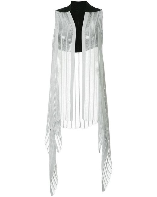 Masnada - Gray Pleated Sleeveless Gilet - Lyst