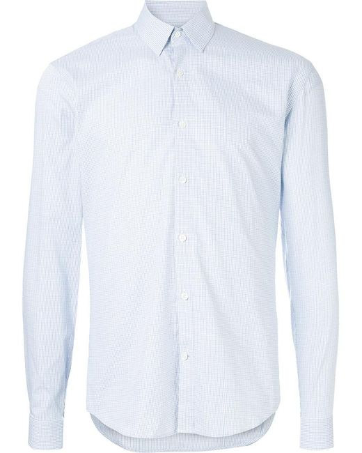 Cerruti 1881 - Blue Small Checked Shirt for Men - Lyst