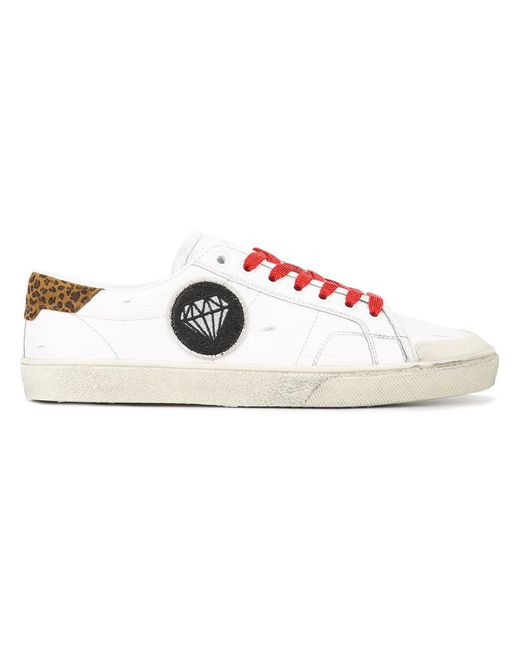 Saint Laurent | White Contrast Sneakers | Lyst