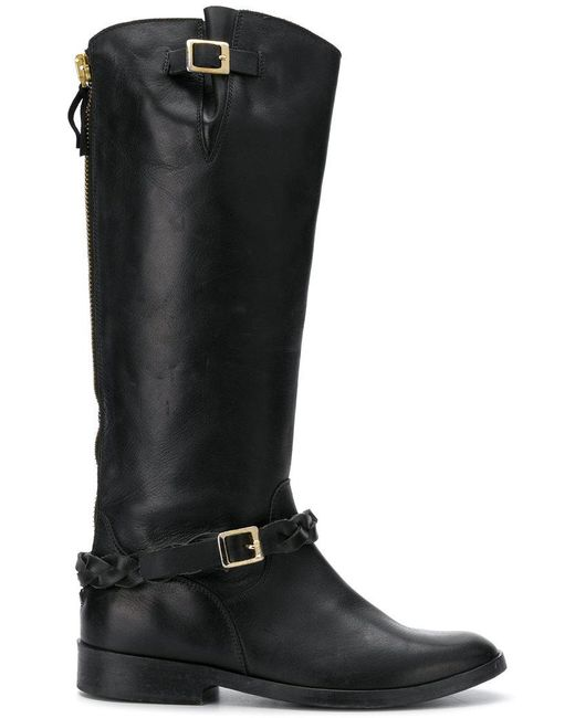 Golden Goose Deluxe Brand - Black Braid Detailed Boots - Lyst