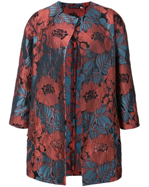 Josie Natori - Cut Out Embroidered Topper Jacket - Lyst