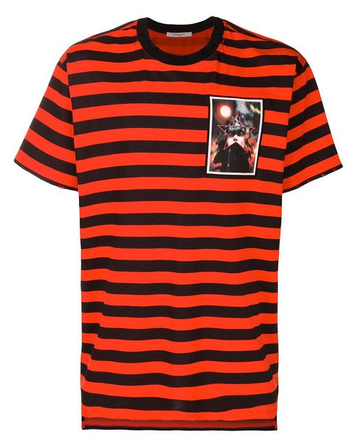 Givenchy striped t shirt in black for men save 6 lyst for Givenchy t shirts for sale