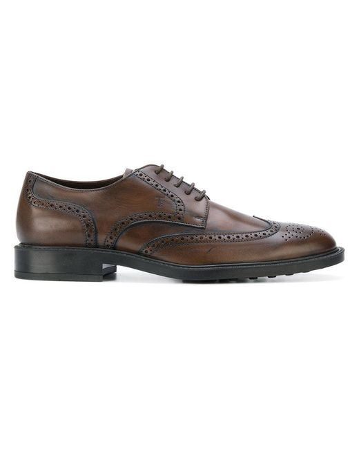Tod's - Brown Classic Brogues for Men - Lyst