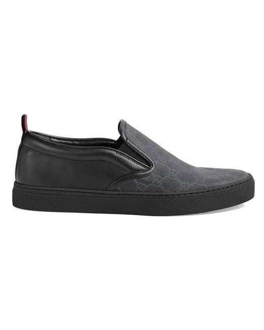 7a0832fa5ff Gucci GG Supreme Sneaker in Black for Men - Save 16% - Lyst