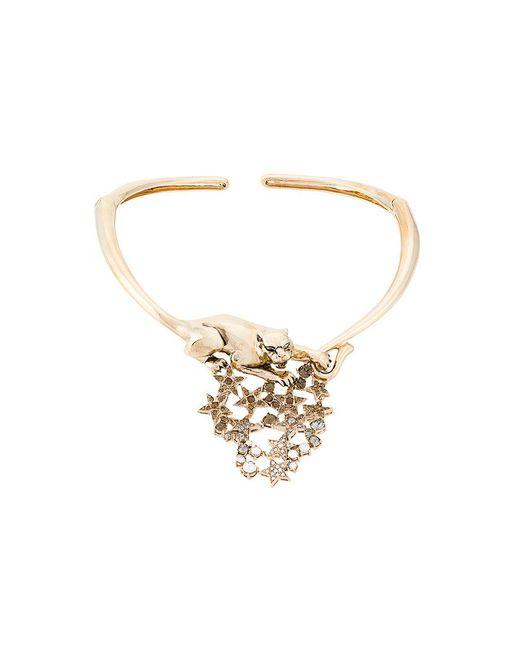 Roberto Cavalli | Metallic Panther And Stars Necklace | Lyst