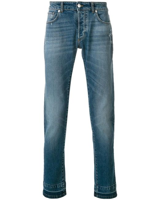 Versace - Blue Slim Fit Jeans for Men - Lyst