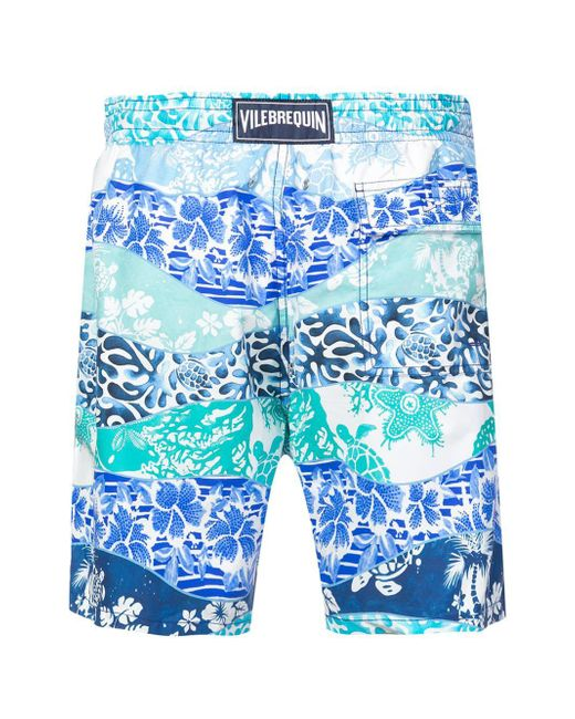 3f43185319 ... Vilebrequin - Blue Printed Swim Shorts for Men - Lyst ...