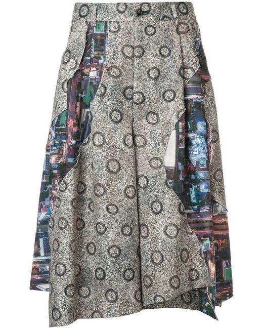 Comme des Garçons - Green Asymmetric Flared Shorts for Men - Lyst