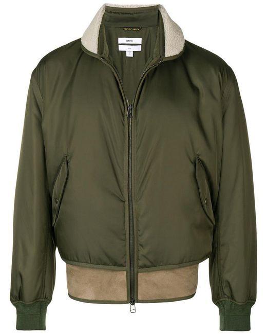 OAMC - Green Shearling Hem Bomber Jacket for Men - Lyst