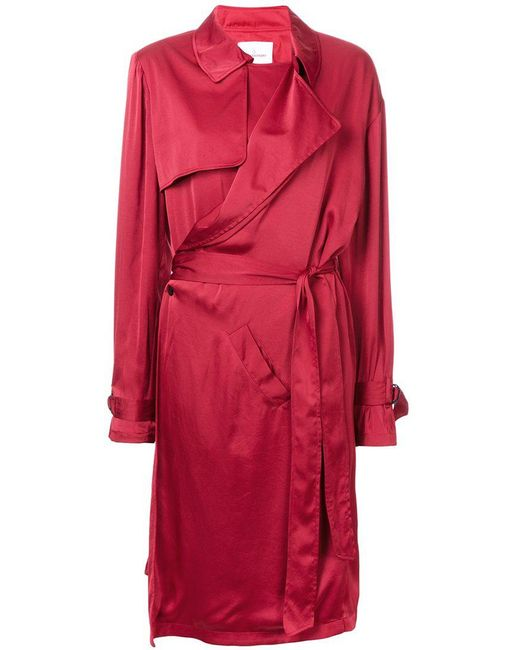 A.F.Vandevorst - Red Trench Style Dress - Lyst