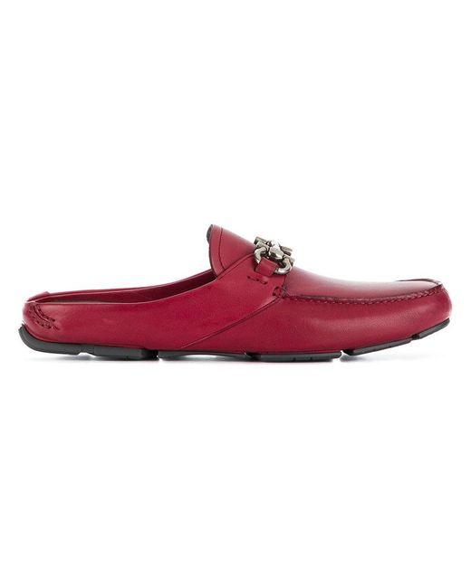 Ferragamo - Multicolor Double Gancio Slip-on Loafers for Men - Lyst
